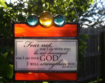 Stained Glass Suncatcher Quote
