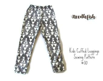 TODDLER LEGGINGS SEWING Pattern - Hipster Girls Leggings Pattern - Sizes 3-8 - Easy Girls Leggings Pattern - Aria Leggings