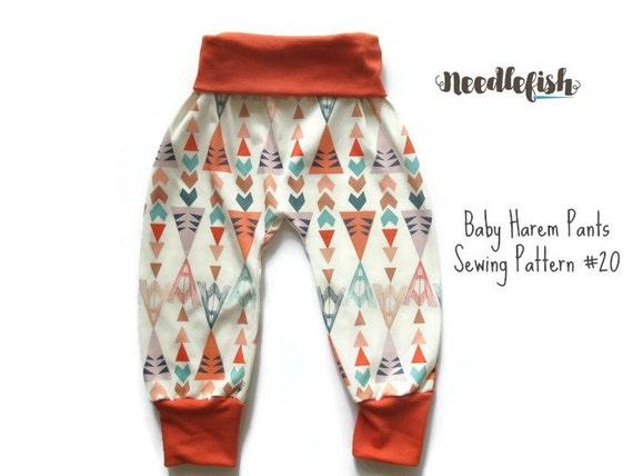 BABY HAREM PANTS Sewing Pattern Baby Harem pants Toddler | Etsy