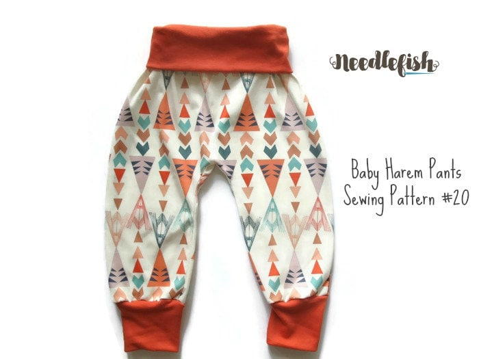 KIDS HAREM PANTS Sewing Pattern | Etsy