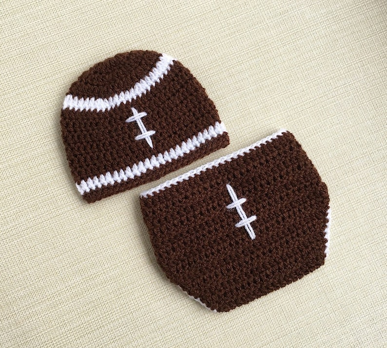 bd01fc4b8 Newborn boy football outfit Newborn photo outfit Crochet baby