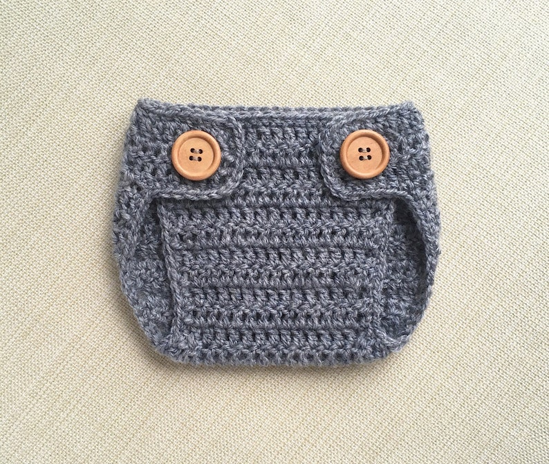 Newborn Boy Photo Outfit Crochet Baby Diaper Cover Neutral Etsy