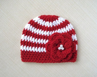 Crochet baby girl hat Newborn girl hat Crochet newborn hat Girl newborn hospital hat Baby girl beanie Infant girl photo prop New born hats