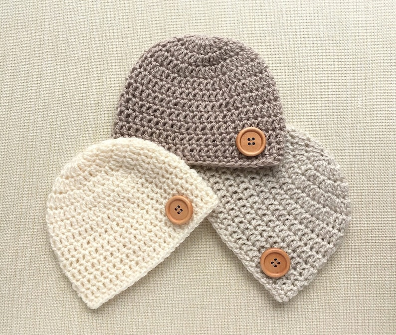 cd851f4f8 Baby Hat. Boy Newborn Beanie 0 to 12 months old, Neutral colors crochet  infant photo prop ideas for holiday pictures. New born birth present