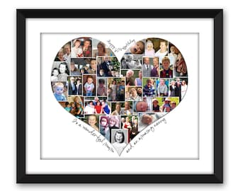 heart photo collage etsy