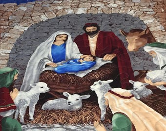 Nativity Quilted Wallhanging