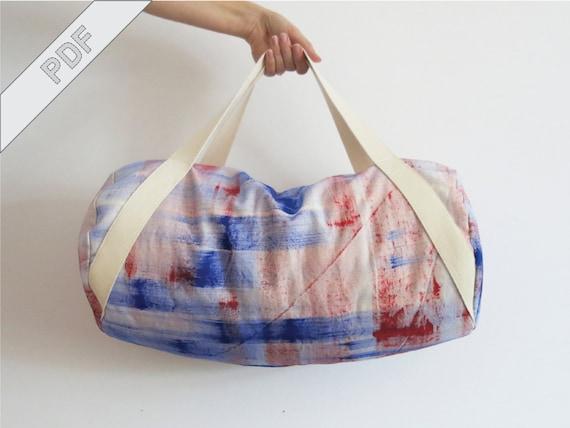 Nähanleitung mit Schnittmuster Sporttasche Duffle Duffel Bag | Etsy