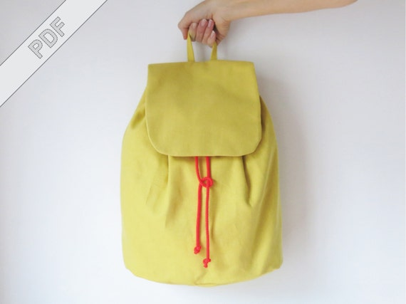 Nähanleitung mit Schnittmuster minimalistischer Rucksack No. 3 | Etsy