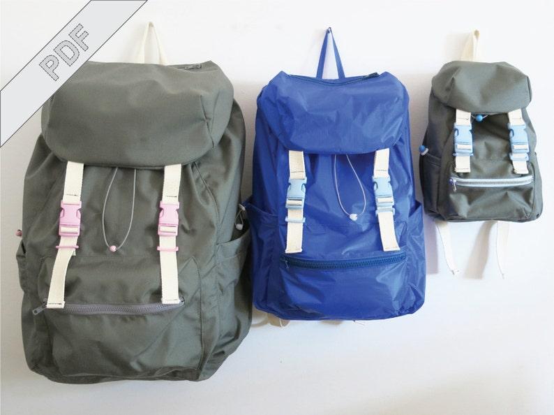 7b508bdb3b76 Nähanleitung mit Schnittmuster, Rucksack No. 2 in 3 Größen für Erwachsene  und Kinder, für Stadt & Natur