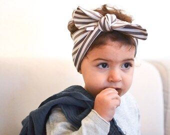 Tutorial with sewing pattern for a baby and kids headscarf or headband