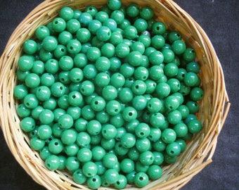 Plastic beads 3 ounces 7.5mm