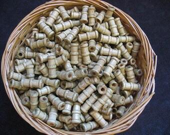Wooden beads 3 ounces 16mm x 5mm