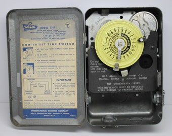 Intermatic Time Switch Model T101 in Heavy Metal Hinged Box by International Register Company