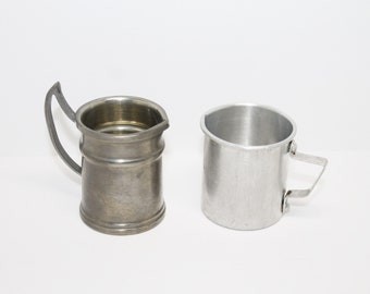 Vintage Miniature Metal Pitcher and Cup ARPE Peltro 95 and Maytag