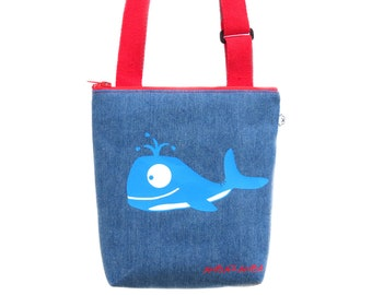 Nursery bag with whale