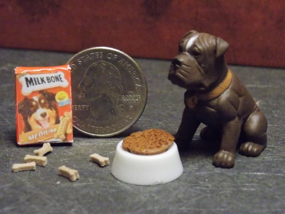 Rawhide Bone 1:12 Scale Dollhouse Miniature Pet