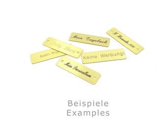 Brass plates engraving