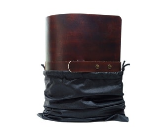 Leather Ring binder folder OX Office Bonny Ebony Raw A4 - South German cowhide - Handmade Made in Germany including free embossing