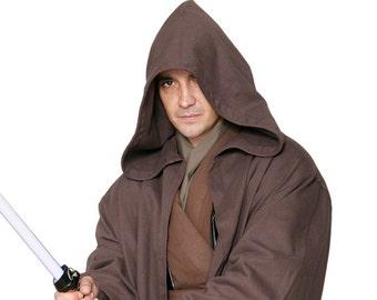 Star Wars Jedi Knight Jedi Robe ONLY - Dark Brown - Replica Star Wars Costume