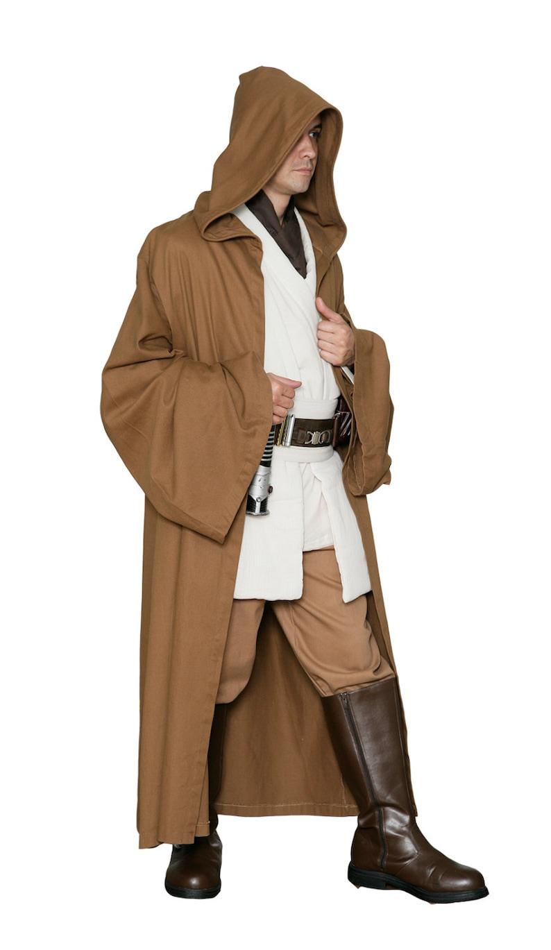 80672a0685 Star Wars Jedi Robe ONLY Light Brown Replica Star Wars