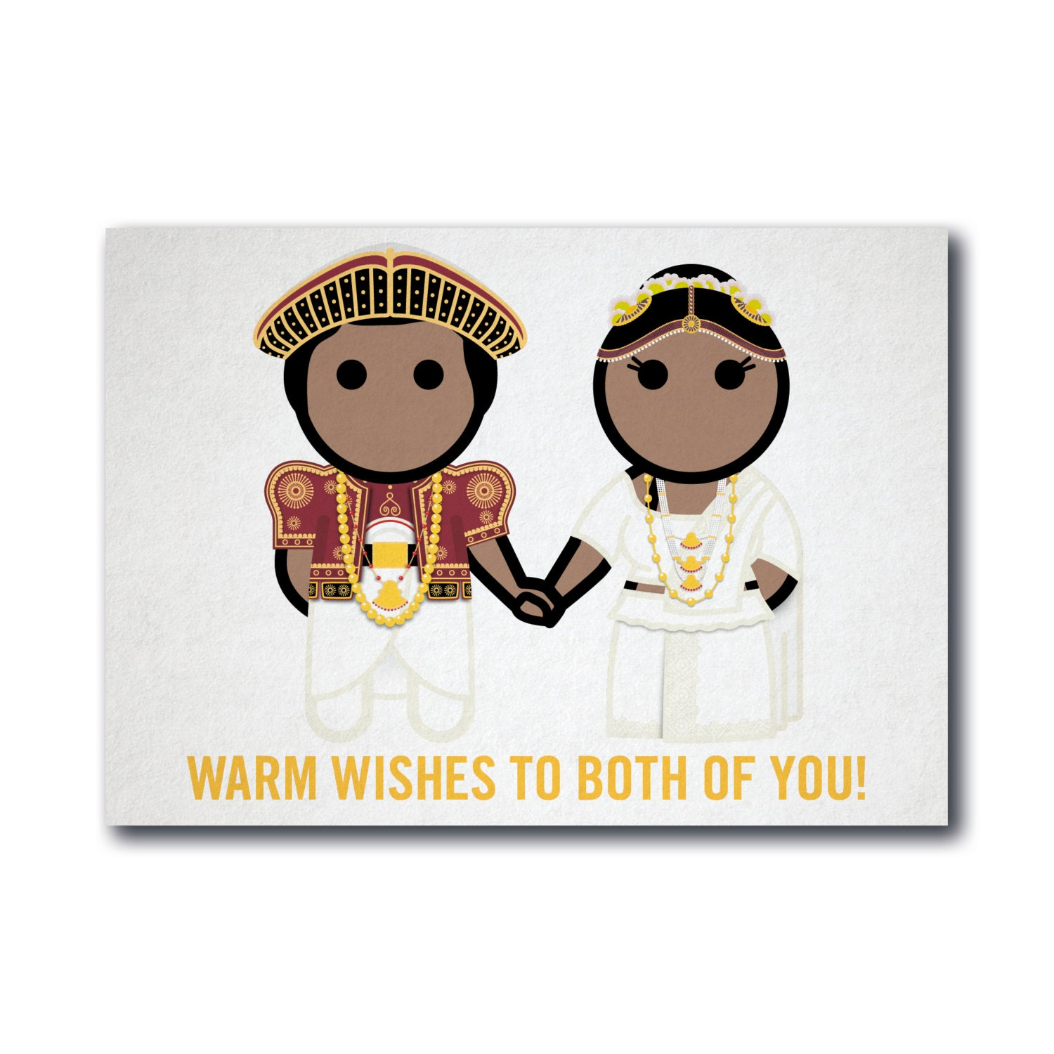 Warm Wishes To Both Of You Greeting Card Gc008c Sri Lankan Etsy