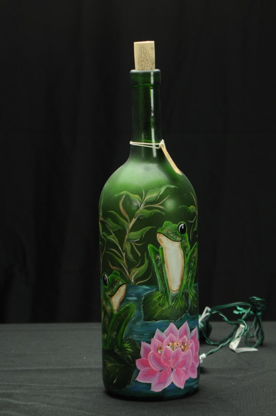 15 Ltr Hand Painted Lighted Wine