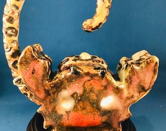 Teapot Decorative Crab Tea Pot Art Teapot Carved Teapot