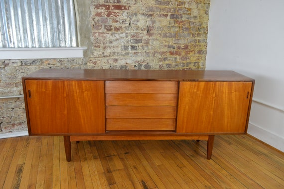 36d2ffa24a8e Fine Danish Teak Credenza with Exposed Drawers