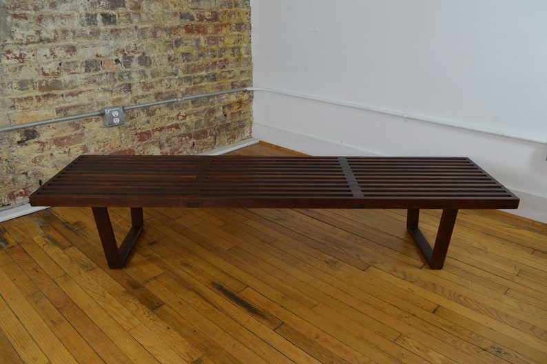 Early George Nelson Slat Bench Coffee Table