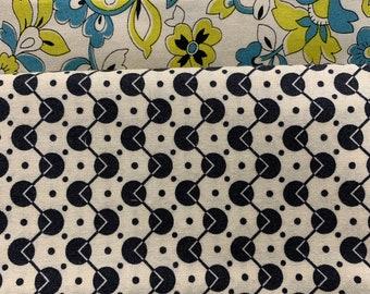 2 yard bundle  - Denyse Schmidt Chicopee Paisley (1.5 yd) & Black Dots (.5 yd)