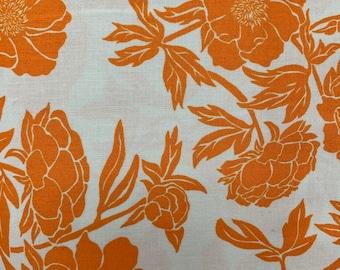 1 YARD - Valori Wells Novella - Peony Tangerine