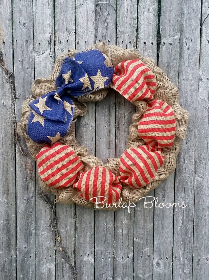4th of July Wreath Independence Day Wreath Patriotic Wreath image 1