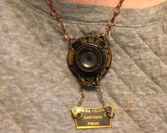 Handmade Necklace/Vintage parts from Kodak Camera
