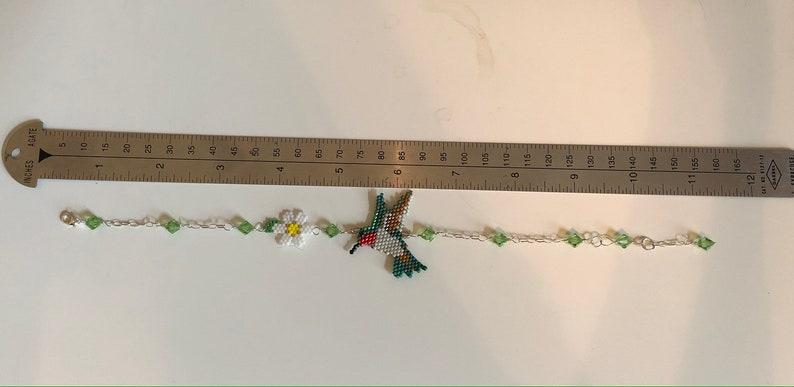 Beaded Hummingbird Anklet