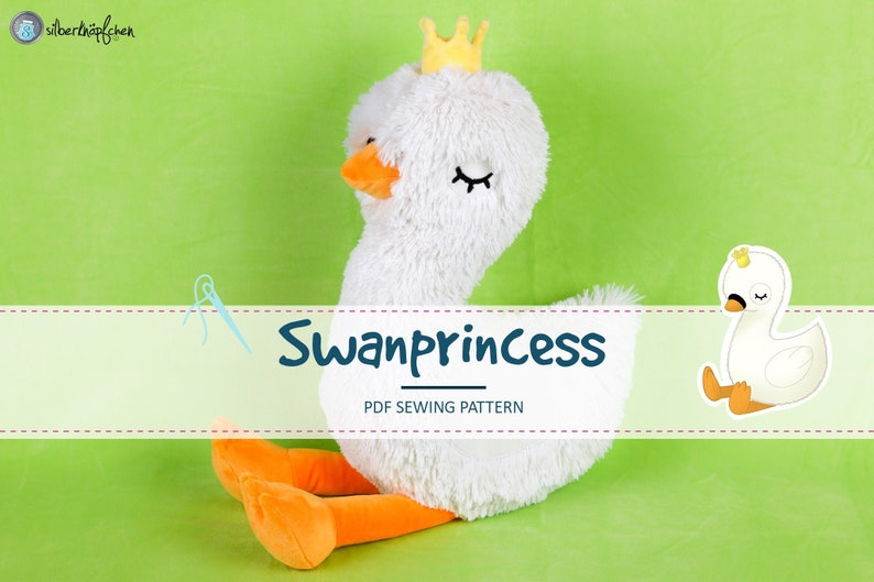 Sewing Pattern and Tutorial Swan Princess handmade image 0