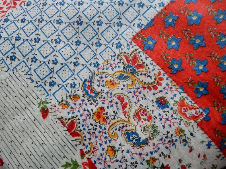 7 Yards of Vintage Printed Cotton Quilt Fabric