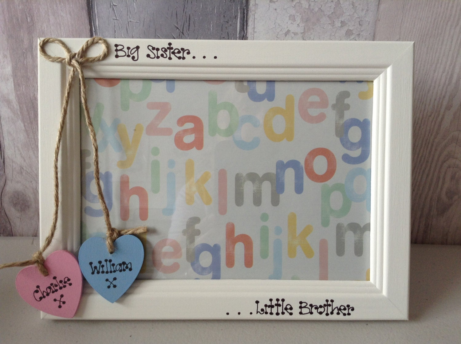 Old Fashioned Big Brother Little Brother Picture Frame Picture ...