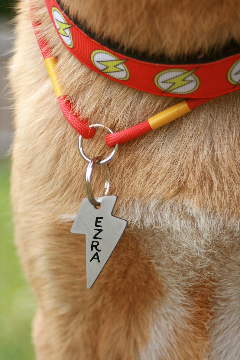 Flash Lightning Zeus Dog Tag Custom Two Sides Gift Customized Pet Id Tag Name Tags Personalized Pet Id Tags