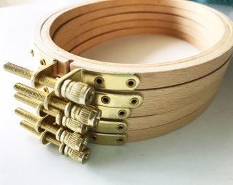 Embroidery Hoop Oval Beech Wood Hoop Portrait Orientation