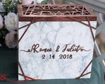 wedding card box with slot and lock wedding money box marble wedding card holder with lock gift card box copper geometry card box gift