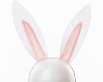 White Bunny Ears Costume / Rabbit Ears / Animal Ear Headband / halloween Costume / Cosplay