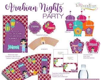 Arabian Nights party printable