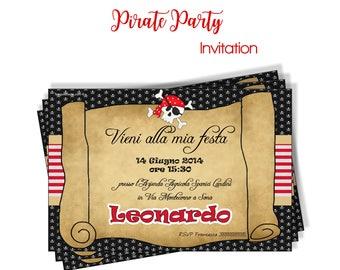 Invitacion PIRATA imprimible