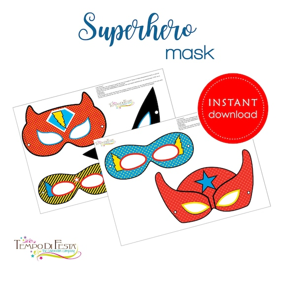 picture relating to Superhero Mask Printable titled Superhero Mask Printable Fast Obtain by means of Speed di Festa