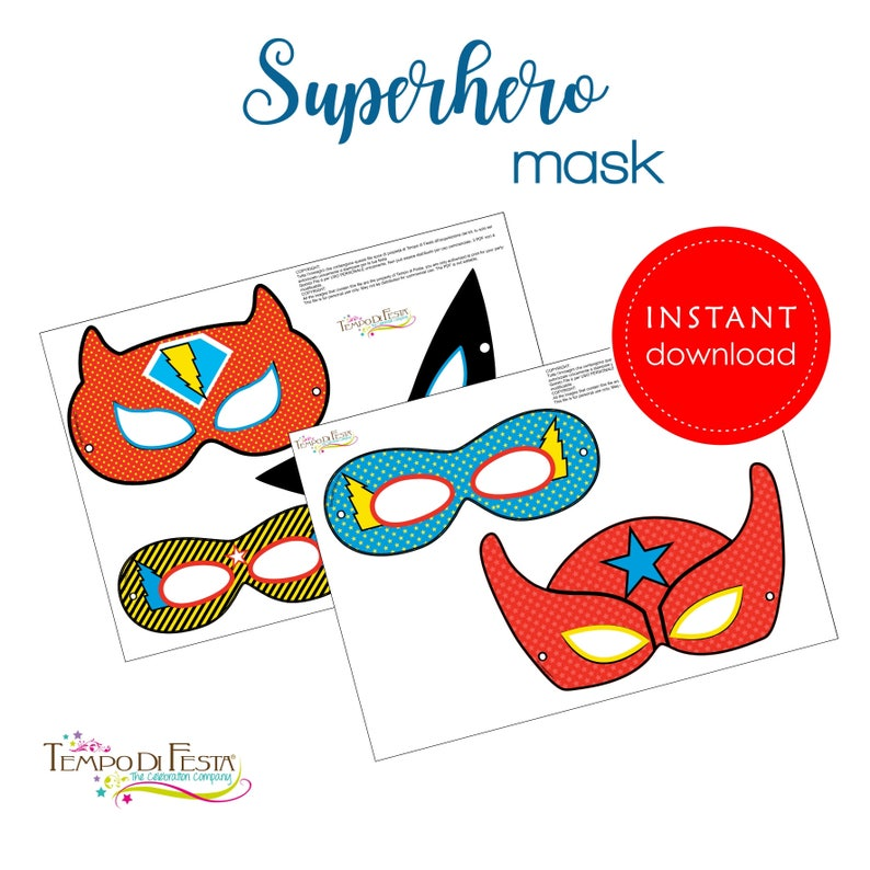 photograph relating to Printable Superhero Masks identified as Superhero Mask Printable Quick Obtain