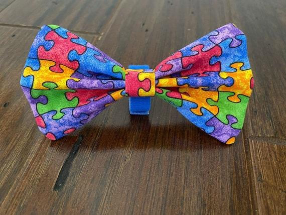 Jigsaw Puzzle Piece Necktie Autism Awareness Necktie Jigsaw Dog Neckwear Autism Dog Necktie
