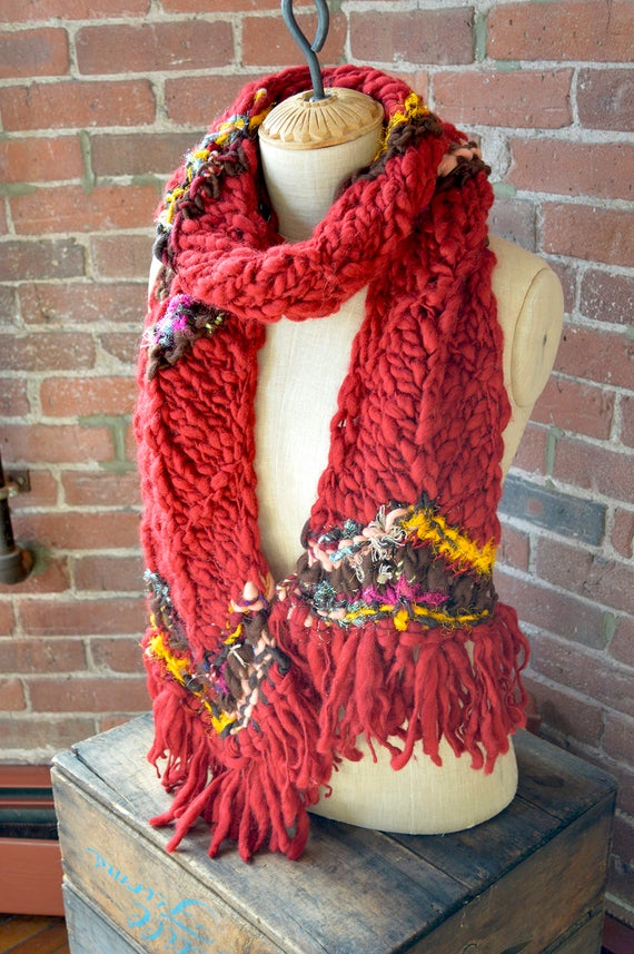 Knitting Pattern Knit Scarf Pattern Knitting Patterns For Etsy