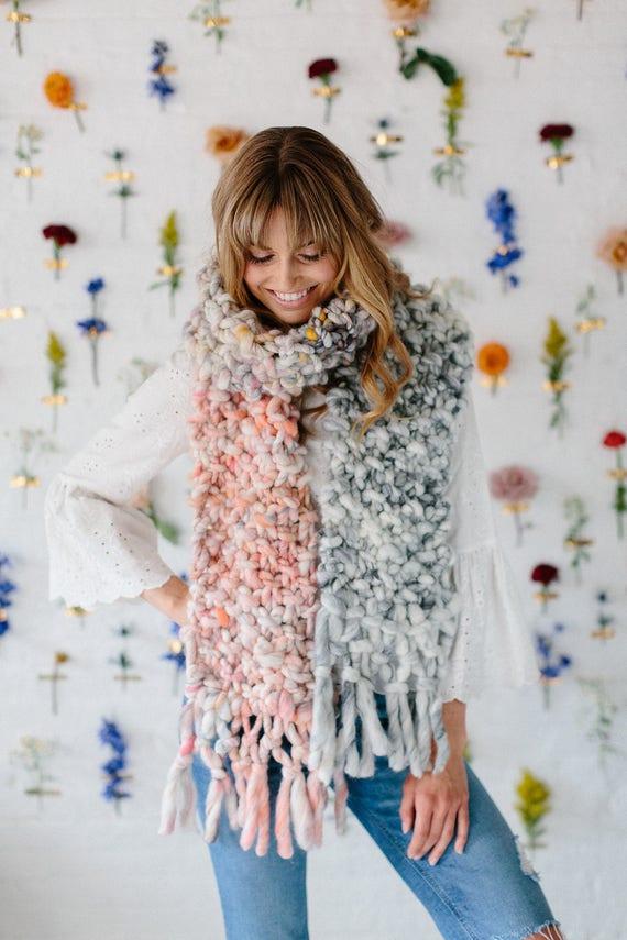 Knitting Pattern Easy Knitting Pattern Knit Scarf Pattern Etsy