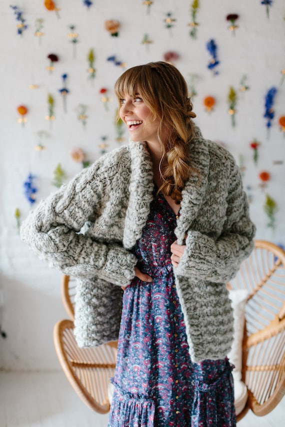 Pattern Knit Cardigan Pattern Knit Sweater Pattern Cable Etsy