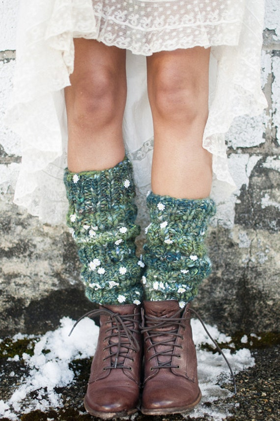 Knit Leg Warmers Pattern Easy Knitting Pattern Handspun Etsy